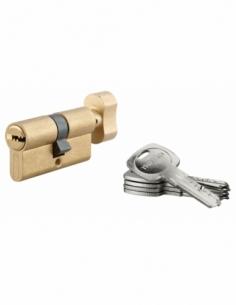 Cylindre de serrure à bouton Tiger 6, 30Bx30mm, laiton, anti-arrachement, anti-perçage, 5 clés - THIRARD Cylindre à bouton