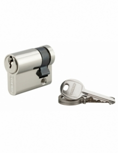Demi-cylindre de serrure SA, 30x10mm, anti-arrachement, nickel, 3 clés - THIRARD Demi-cylindre