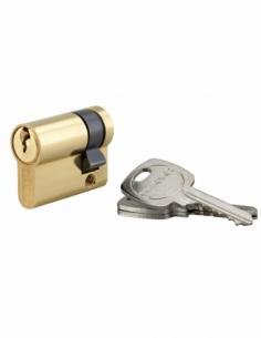 Demi-cylindre de serrure, 30x10mm, anti-arrachement, laiton, 3 clés - THIRARD Demi-cylindre