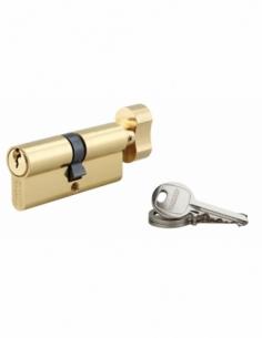 Cylindre de serrure à bouton SA, 40Bx40mm, anti-arrachement, laiton, 3 clés - THIRARD Cylindre à bouton