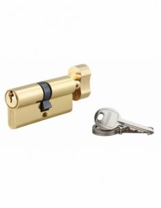 Cylindre de serrure à bouton SA, 35Bx35mm, anti-arrachement, laiton, 3 clés - THIRARD Cylindre à bouton