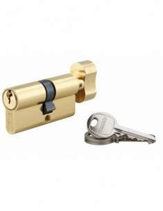 Cylindre de serrure à bouton SA, 35Bx30mm, anti-arrachement, laiton, 3 clés - THIRARD Cylindre à bouton