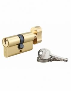 Cylindre de serrure à bouton SA, 30Bx30mm, anti-arrachement, laiton, 3 clés - THIRARD Cylindre à bouton