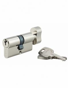 Cylindre de serrure à bouton, 30Bx30mm, anti-arrachement, nickel, 3 clés - THIRARD Cylindre à bouton