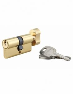 Cylindre de serrure à bouton, 30Bx30mm, anti-arrachement, laiton, 3 clés - THIRARD Cylindre à bouton