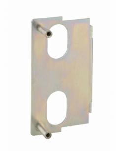 Plaque de fixation pour serrure verticale, à souder, réversible - THIRARD Serrure