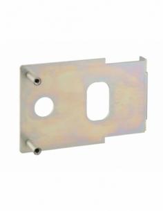 Plaque de fixation pour serrure horizontale, à souder, réversible - THIRARD Poignée de porte
