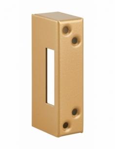 Gâche pour porte à recouvrement, acier, epoxy bronze - THIRARD Gâche de porte