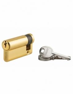 Demi-cylindre de serrure Ecopro, 50x10mm, anti-arrachement, 3 clés, laiton - THIRARD Demi-cylindre