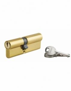 Cylindre de serrure à double entrée Ecopro, 40x50mm, laiton, 3 clés - THIRARD Cylindre à double entrée