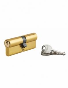 Cylindre de serrure double entrée Ecopro, 40x40mm, aluminium, anti-arrachement, 3 clés, laiton - THIRARD Cylindre à double en...