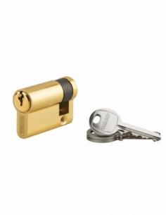 Demi-cylindre de serrure Ecopro, 40x10mm, anti-arrachement, 3 clés, laiton - THIRARD Demi-cylindre