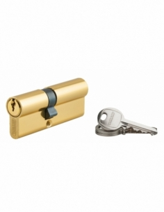 Cylindre de serrure double entrée Ecopro, 35x45mm, aluminium, anti-arrachement, 3 clés, laiton - THIRARD Cylindre à double en...