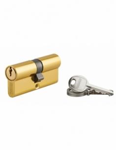 Cylindre de serrure double entrée Ecopro, 35x35mm, aluminium, anti-arrachement, 3 clés, laiton - THIRARD Cylindre à double en...