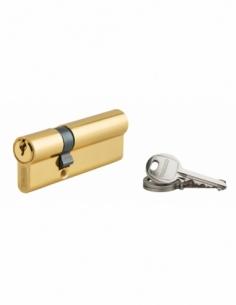 Cylindre de serrure double entrée Ecopro, 30x60mm, aluminium, anti-arrachement, 3 clés, laiton - THIRARD Cylindre à double en...