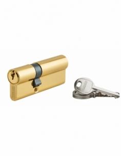 Cylindre de serrure double entrée Ecopro, 30x50mm, aluminium, anti-arrachement, 3 clés, laiton - THIRARD Cylindre à double en...