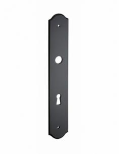 Plaque de propreté, trou de cle, fer, noir - THIRARD Poignée de porte