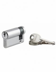 Demi-cylindre de serrure Ecopro, 40x10mm, anti-arrachement, 3 clés, nickel - THIRARD Demi-cylindre