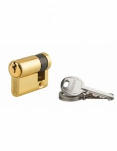 Demi-cylindre de serrure Ecopro, 30x10mm, anti-arrachement, 3 clés, laiton - THIRARD Demi-cylindre