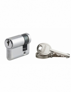 Demi-cylindre de serrure Ecopro, 30x10mm, anti-arrachement, 3 clés, nickel - THIRARD Demi-cylindre