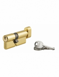 Cylindre de serrure à bouton Ecopro, 40Bx30mm, laiton, 3 clés - THIRARD Cylindre de serrure