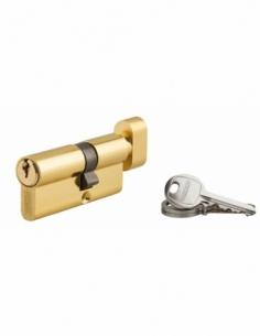 Cylindre de serrure à bouton Ecopro, 30Bx40mm, laiton, 3 clés - THIRARD Cylindre de serrure