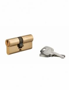 Cylindre de serrure double entrée, 30x35mm, anti-arrachement, laiton, 3 clés - THIRARD Cylindre à double entrée