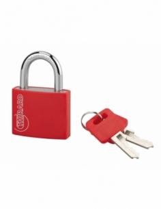 Cadenas à clé Type 1, intérieur, 40mm, aluminium, couleurs assorties, 2 clés - THIRARD Cadenas à clé