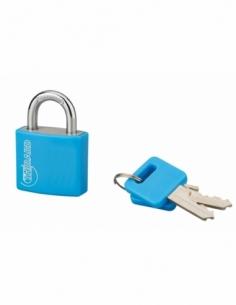 Cadenas à clé Type 1, intérieur, 30mm, aluminium, couleurs assorties, 2 clés - THIRARD Cadenas à clé