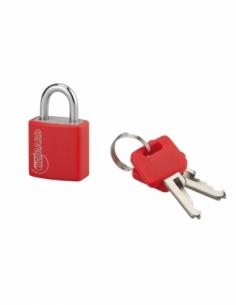 Cadenas à clé Type 1, intérieur, 20mm, aluminium, couleurs assorties, 2 clés - THIRARD Cadenas à clé