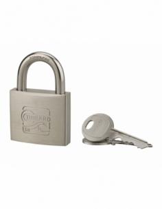Cadenas à clé Skipper, inox, marine, anse inox, 50mm, 2 clés - THIRARD Cadenas à clé