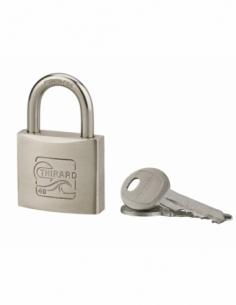 Cadenas à clé Skipper, inox, marine, anse inox, 40mm, 2 clés - THIRARD Cadenas à clé