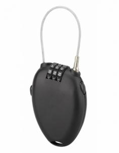 Cadenas à code Zipper, intérieur, cable 0.55m, 3 chiffres, noir - THIRARD Cadenas à code
