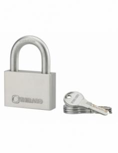 Cadenas à clé Rinox, inox, extérieur, anse inox, 70mm, 4 clés - THIRARD Cadenas à clé