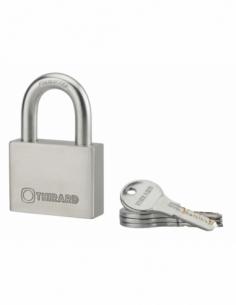 Cadenas à clé Rinox, inox, extérieur, anse inox, 60mm, 4 clés - THIRARD Cadenas à clé
