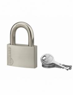 Cadenas à clé Cinox, inox, extérieur, anse inox, 60mm, 3 clés - THIRARD Cadenas à clé