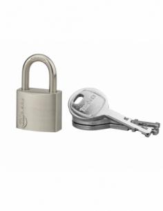 Cadenas à clé Cinox, inox, extérieur, anse inox, 30mm, 3 clés - THIRARD Cadenas à clé