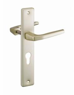 Paire de béquilles pour porte, carré 8mm + 1 plaque carré 8 x 56mm, trou de cylindre - THIRARD Poignée de porte