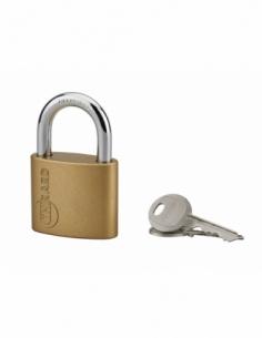 Cadenas à clé Ruby, acier, intérieur, anse acier, 50mm, 3 clés - THIRARD Cadenas à clé