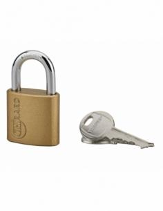Cadenas à clé Ruby, acier, intérieur, anse acier, 32mm, 3 clés - THIRARD Cadenas à clé