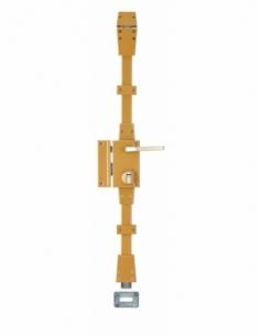 Serrure en applique Carene à fouillot pour porte d'entrée, gauche, 3 pts, SHG 30x65mm, axe 45mm, bronze, 4 clés - THIRARD Ser...
