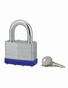 Cadenas à clé Slice, acier, intérieur, anse acier, 65mm, 2 clés - THIRARD Cadenas à clé