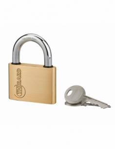 Cadenas à clé Ruck, laiton, intérieur, anse acier, 60mm, 2 clés - THIRARD Cadenas à clé
