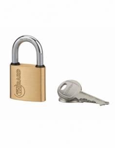 Cadenas à clé Ruck, laiton, intérieur, anse acier, 30mm, 2 clés - THIRARD Cadenas à clé
