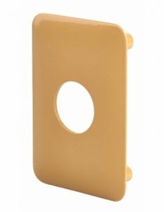 Plaque de renfort pour verrou Surveyor, fixation par vis, epoxy bronze - THIRARD Poignée de porte