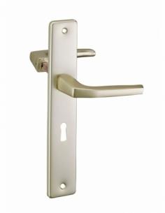 Paire de béquilles pour porte, carré 8mm + 1 plaque carré 8 x 56mm, trou de clé - THIRARD Poignée de porte