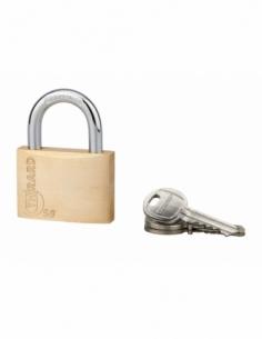 Cadenas à clé Type 1, laiton, intérieur, anse acier, 50mm, 3 clés - THIRARD Cadenas à clé