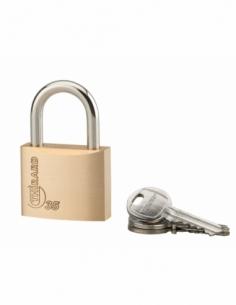 Cadenas à clé Type 1, laiton, intérieur, anse acier, 35mm, 3 clés - THIRARD Cadenas à clé