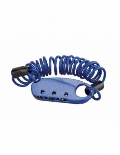 Cadenas à combinaison Extenso, 3 chiffres, intérieur, anse cable 1m - THIRARD Cadenas à code