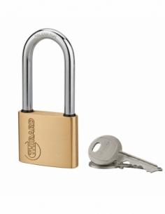 Cadenas à clé Ruck, laiton, intérieur, anse 1/2 acier, 50mm, 2 clés - THIRARD Cadenas à clé